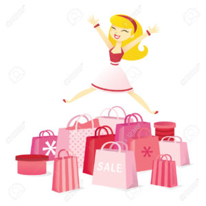 happy Super Sale Girl